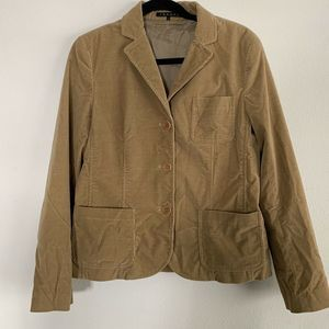Theory Womens Tan Corduroy Jacket Blazer